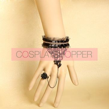 Sexy Retro Lace Lolita Bracelet And Ring Set