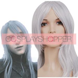 Silver 65cm Final Fantasy Yazoo Cosplay Wig