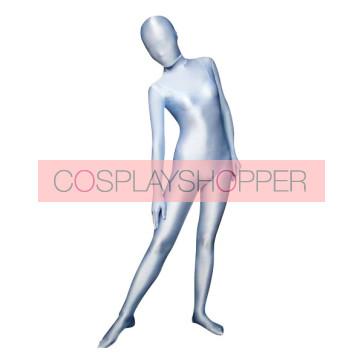 Silver Lycra Spandex Unisex Zentai Suit