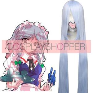 Silver Purple 120cm Tonhou Project Eirin Yagokoro Cosplay Wig