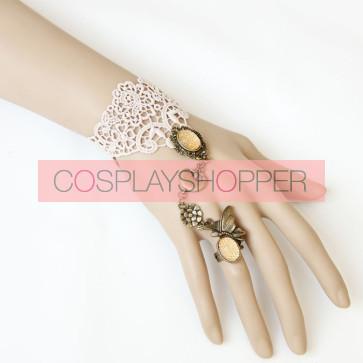 Superb Lace Lady Lolita Bracelet And Ring Set