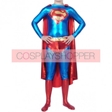 Superman Shiny Metallic Superhero Zentai Suit