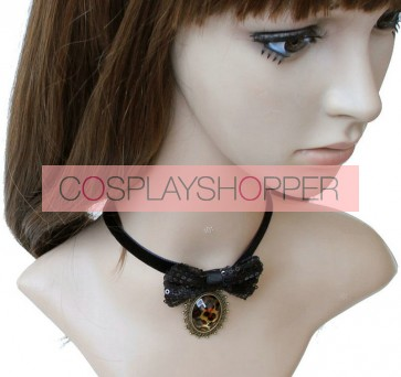 Sweet Black Bow Lolita Necklace
