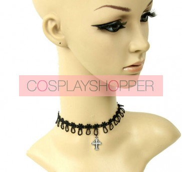 Sweet Black Cross Decoration Lolita Necklace