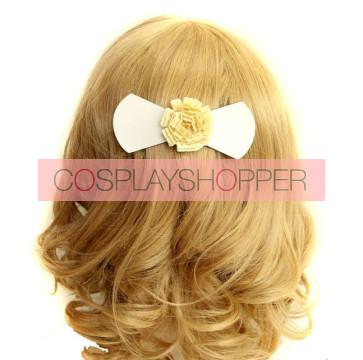 Sweet Bow Floral Girls Lolita Hairpin
