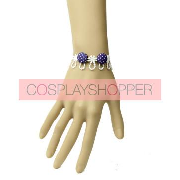 Sweet Concise White Lace Button Girls Lolita Wrist Strap