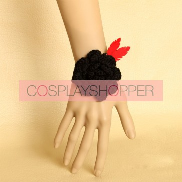 Sweet Floral Leather Girls Lolita Wrist Strap