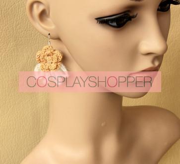 Sweet Floral Girls Handmade Lolita Earrings