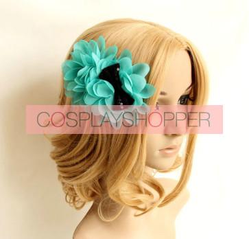 Sweet Green Chiffon Girls Handmade Lolita Hairpin