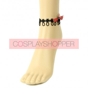 Sweet Handmade Bat Girls Lolita Ankle Belt