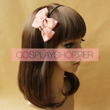Sweet Pink Bowknot Lady Handmade Lolita Headband