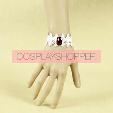 Sweet Retro White Lady Lolita Wrist Strap