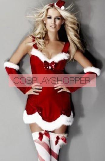 Sweet Velvet Santa Girls Christmas Holiday Dress