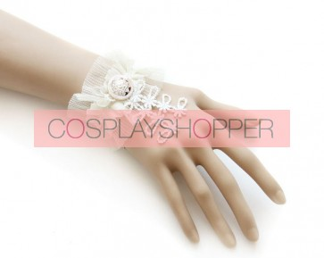 Sweet White Button Handmade Lolita Wrist Strap