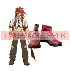 Tales of the Abyss Luke fon Fabre Imitation Leather Rubber Cosplay Shoes