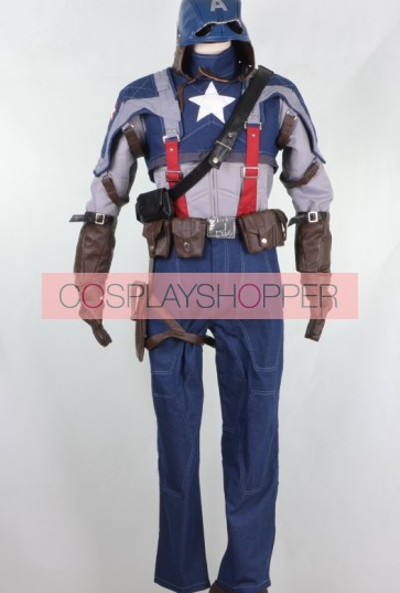 Captain America: The First Avenger Cosplay Costume