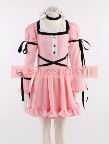 The Future Diary Uryu Minene Pink Lolita Dress Cosplay Costume