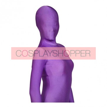Violet Lycra Spandex Unisex Zentai Suit