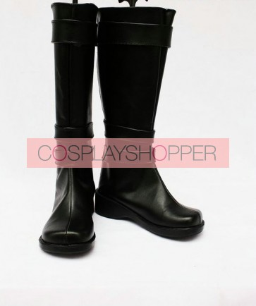 Vocaloid Black Faux Leather Miku Cosplay Boots