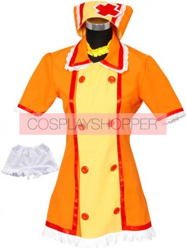 Vocaloid Kagamine Rin Orange Nurse Cosplay Costume