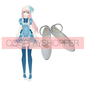 Vocaloid Luka Imitation Leather Cosplay Shoes