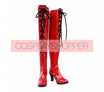 Vocaloid Meiko Red Cosplay Boots