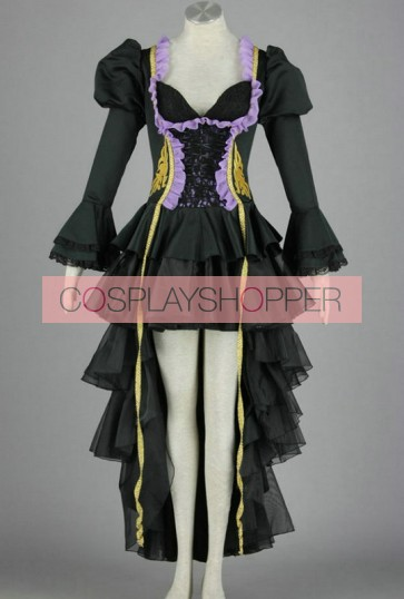 Vocaloid Miku Doujin Black Cosplay Costume Dress