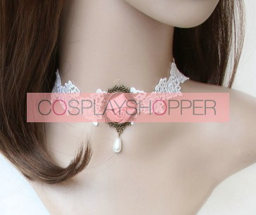 White Attractive Lady Lace Lolita Necklace
