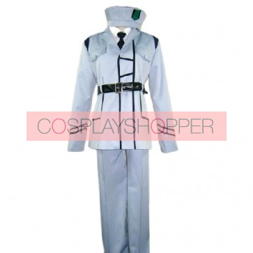 Axis Powers Hetalia White Cosplay Costume Uniform