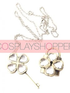 White Shugo Chara! Alloy Cosplay Key Necklace