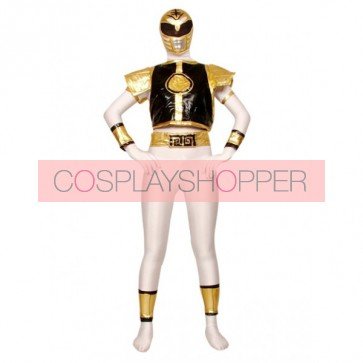 White Warrior Lycra Spandex Superhero Zentai Suit