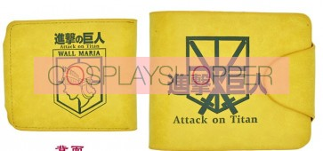 Yellow Attack On Titan Training Corps Cosplay Purse