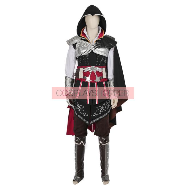 Assassin S Creed Ii Ezio Auditore Da Firenze Black Edition Cosplay Costume Version 2