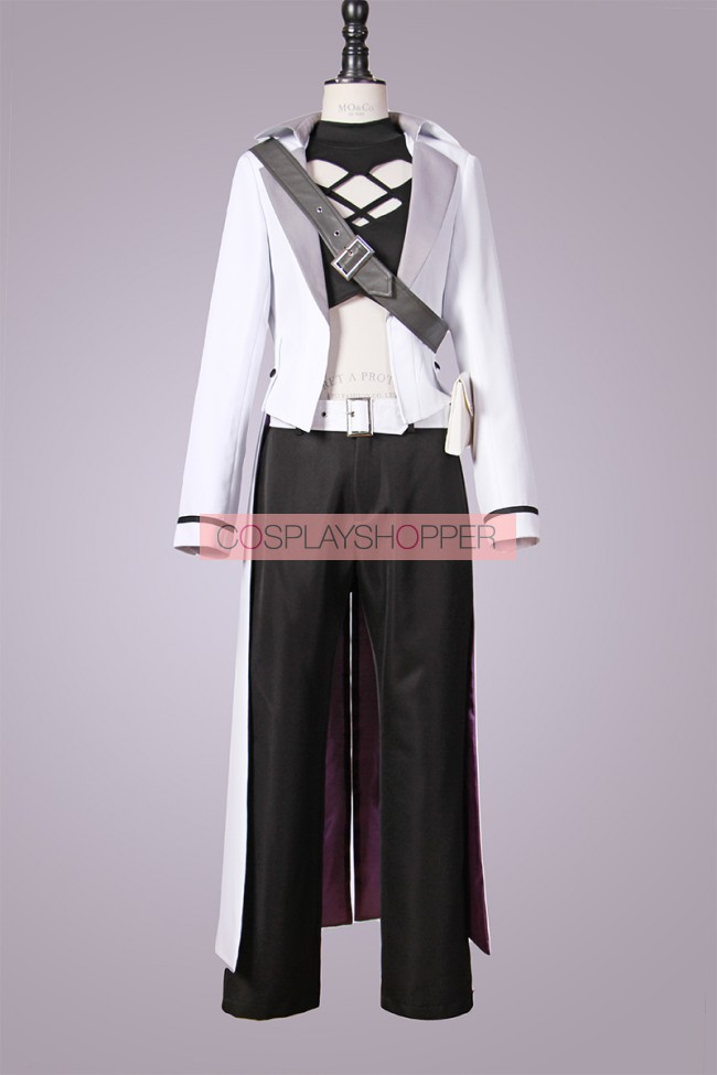 Japan Anime RWBY--Weiss Schnee Cosplay Costume White Color Coat 3