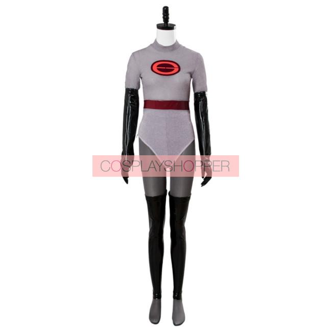The Incredibles Elastigirl Helen Parr Jumpsuit Outfits Halloween Cosplay Costume