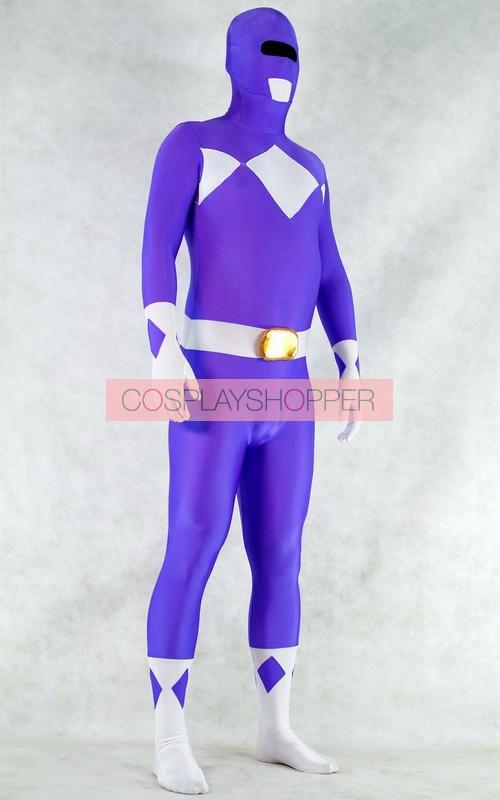 purple spandex power rangers superhero zentai bodysuit costume for sale