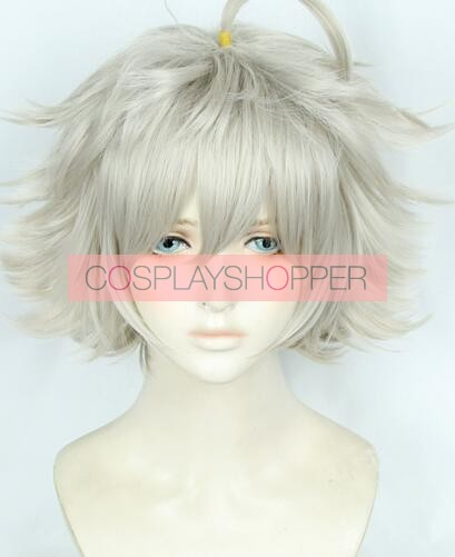 FGO Garden of Avalon Galahad Cosplay Grey white Hair Wig Game