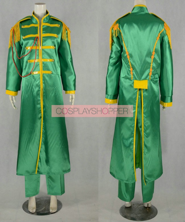 The Beatles Sgt Pepper Lonely Hearts Club Band John Lennon Cosplay Costume Green For Sale