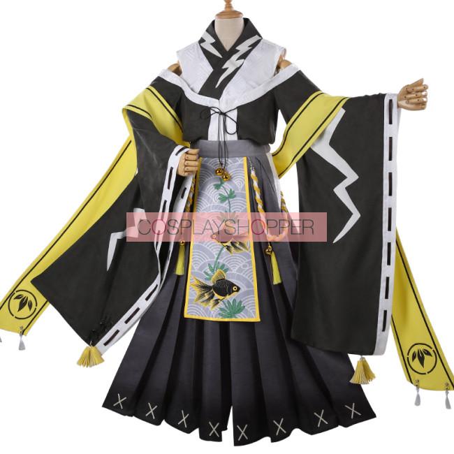 My Hero Academia Boku No Hero Academia Denki Kaminari Chargebolt Flower Festival Kimono Cosplay Costume