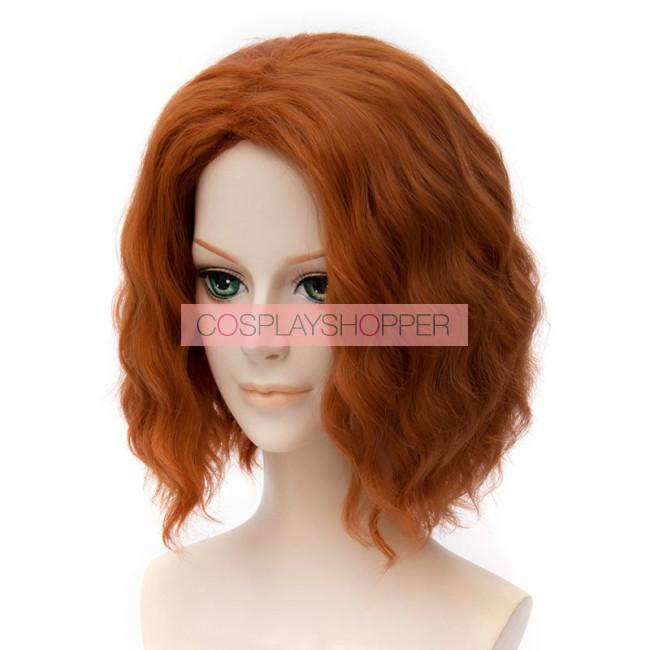 Orange 30cm The Avengers Age Of Ultron Black Widow Natasha Romanoff Cosplay Wig