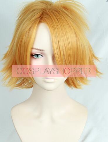 Gold 30cm My Hero Academia Denki Kaminari Chargebolt Cosplay Wig