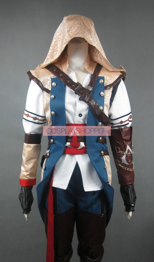 Assassin S Creed Iii Connor Kenway Cosplay Costume Golden Hood