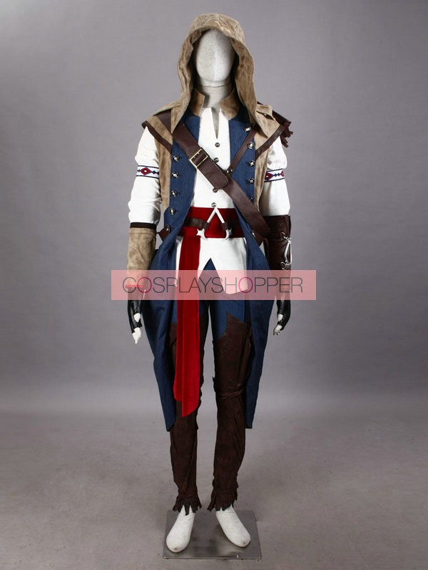 Deluxe Assassin S Creed Iii Connor Kenway Cosplay Ac3 Costume For