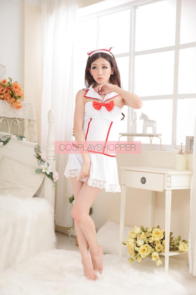 c3106af3f96ef Cute Backless Bow Nurse Costume for Sale