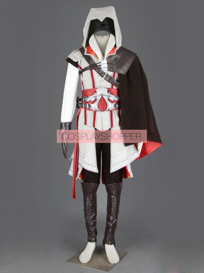 Ezio Auditore Da Firenze Cosplay Costume Deluxe Assassin S Creed Ii Ezio Auditore Da Firenze Cosplay Costume White Edition For Sale