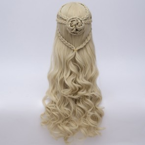 Gold 70cm Game of Thrones 7 Daenerys Targaryen Cosplay Wig