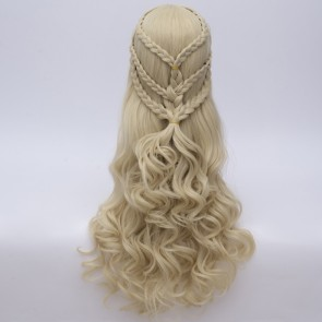 Gold 70cm Game of Thrones Season 7 Daenerys Targaryen Cosplay Wig
