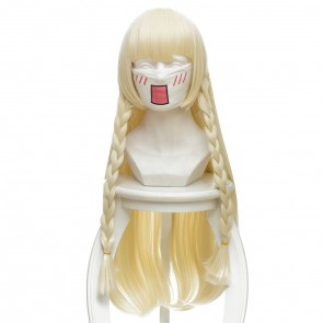 Gold 80cm Pokemon Sun and Moon Lillie Cosplay Wig