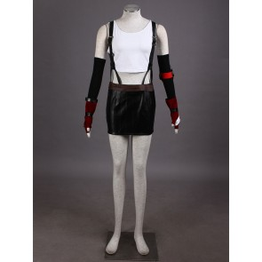 Final Fantasy VII 7 Tifa Lockhart Cosplay Costume (with Suspenders)