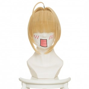 Light Gold 45cm Fate/Extra Red Saber Nero Cosplay Wig